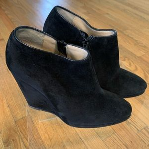 Dolce & Gabbana Suede Hidden Wedge Booties Sz 38.5